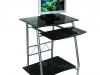 Стол компьютерный GD-005/Black , черное закаленное стекло - 4900