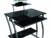 Стеклянный компьютерный стол GD-010/Black - стеклянный компьютерный стол – 6200 рублей